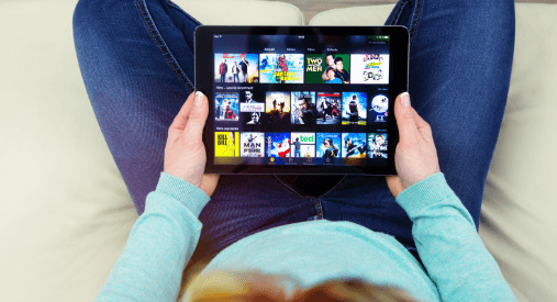 Streaming Services on screen